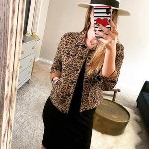 Animal Print Cheetah Jean Jacket